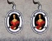 Bloody Countess of Bathory Oval Frame Earrings