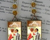 A KISS to make me yours - Forever - as Beaded Earrings