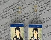 Japanese Girl with Braids Beaded Earrings
