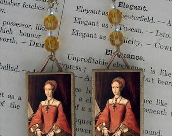 Elizabeth I Tudor Queen Beaded Earrings
