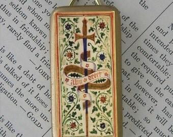 Ace of Swords Tarot Card Pendant