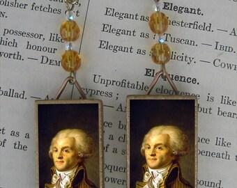 ROBESPIERRE French Revolution BEADED EARRINGS