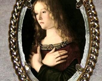 Mary Magdalene by Bellini Frame Pendant