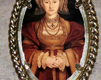 Tudor Queen ANNE of CLEVES Frame Pendant