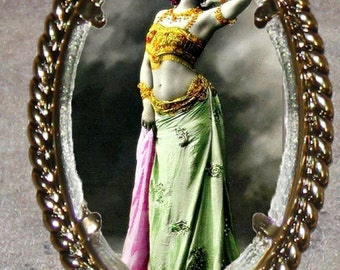 Bellydancer Mata Hari Frame Pendant