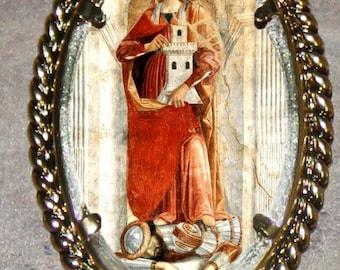 Saint Barbara Frame Pendant