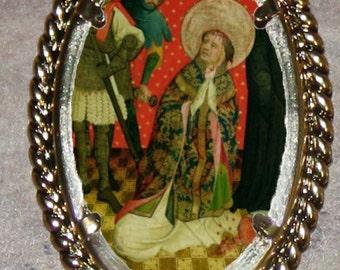Saint Thomas Becket Frame Pendant