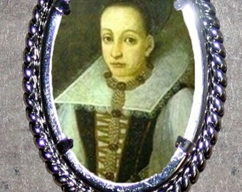Bloody Countess of Bathory Frame Pendant