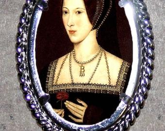 Tudor Queen ANNE BOLEYN Frame Pendant