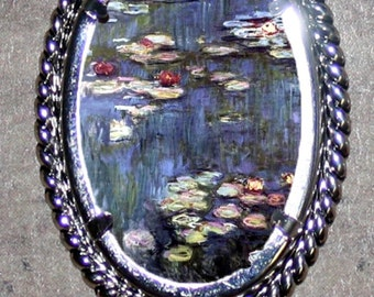Waterlilies by Claude Monet Frame Pendant