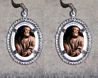 Pope Peter by Rubens Oval Frame Earrings