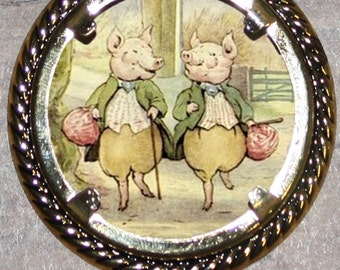 Little Pig Pigling Bland Frame Pendant