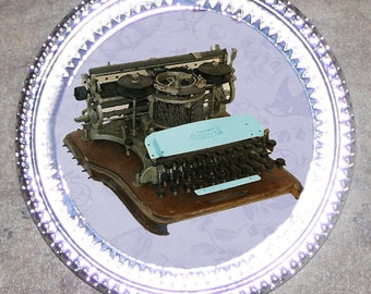 Antique Typewriter Frame Pendant