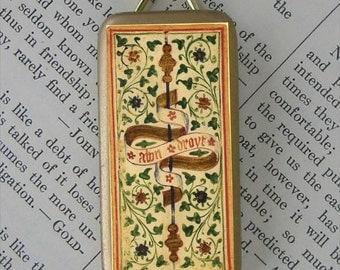 Ace of Wands Tarot Card Pendant