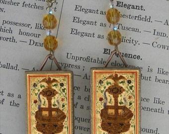 Ace of Cups beaded Earrings