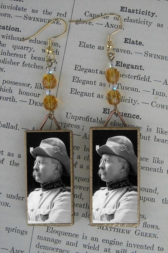 President Theodore Roosevelt Beaded Earrings