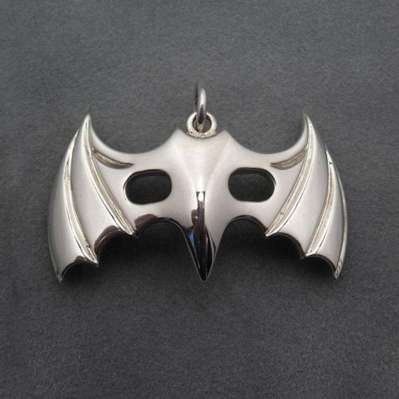 Bat mask pendant - Sterling silver