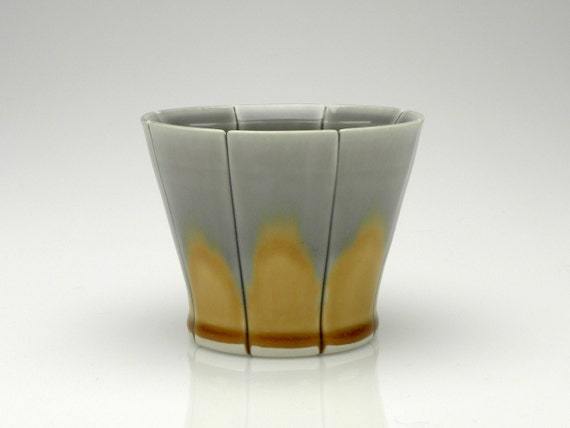 Grey and Amber Rocks Cup