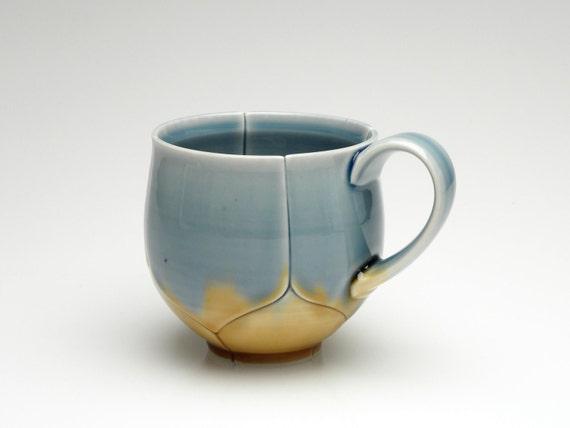 Blue and Gold Lotus Mug