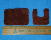 1:12 Scale Dollhouse Bathroom Rugs Set of 2 Brown