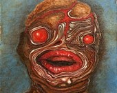 Original oil painting, Harlequin Ichthyosis