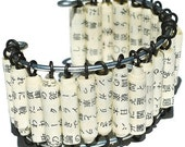 Paper Bead Jewelry- Upcycled Japanese Paper Bead Bracelet - Tanith