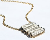 Paper Bead Jewelry- French Dictionary Necklace, Paper Bead Necklace, French Jewelry, Ladder Necklace, Paper Jewelry, Book Lover Gift