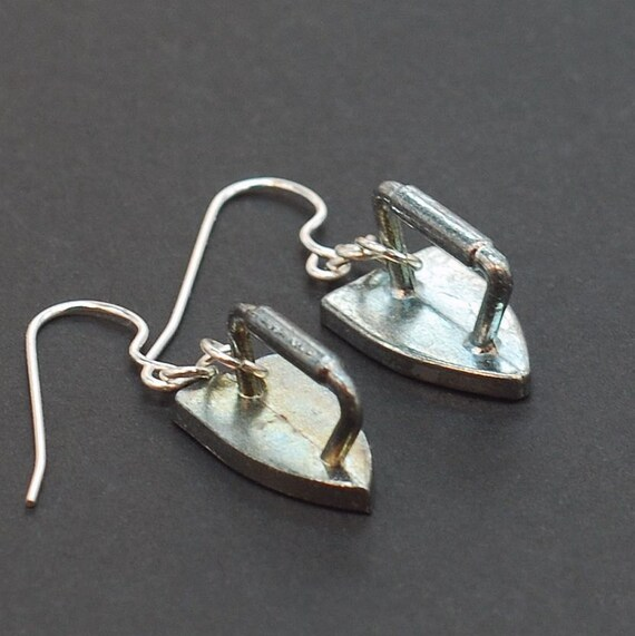 Monopoly Jewelry- Iron Upcycled Game Token Earrings