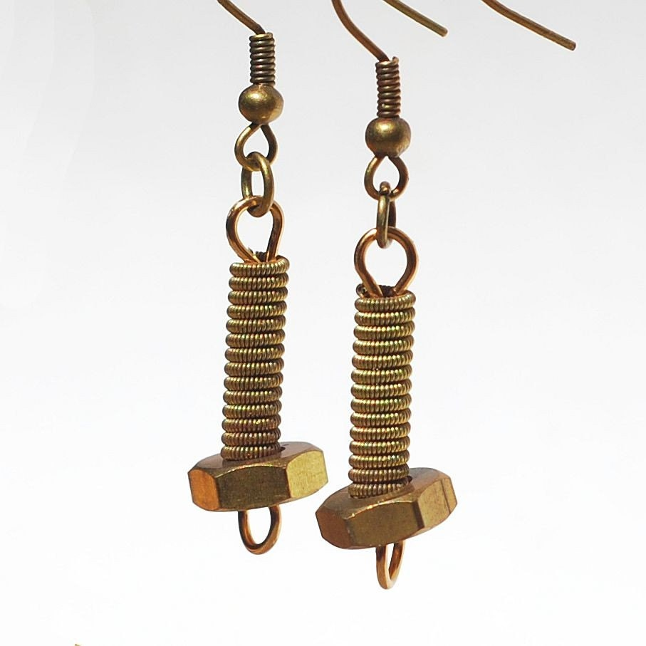 guitar string jewelry brass hardware earrings featured in. Black Bedroom Furniture Sets. Home Design Ideas