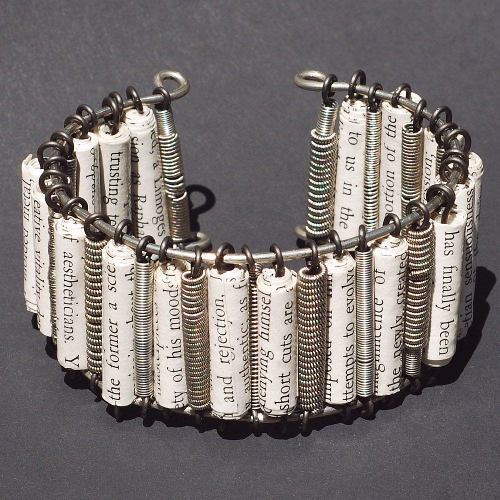 guitar string braclet paper bead and guitar string cuff. Black Bedroom Furniture Sets. Home Design Ideas