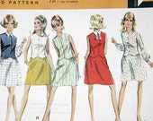 Vintage McCall's Misses' Dress  size 12 Bust 34 pattern 9643 date 1969