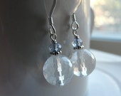 Sterling silver rock crystal earrings - Dance by the light of the moon