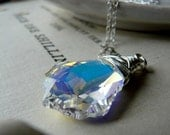 The light from within - Swarovski crystal and sterling silver necklace