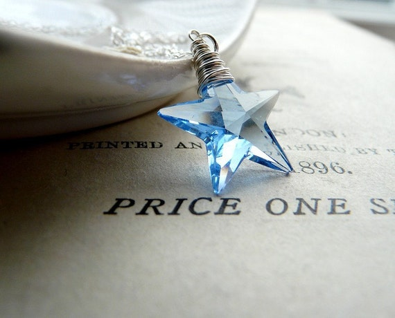Wish upon a star - Swarovski crystal and sterling silver necklace