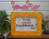 What Would Dumbledore Do - cross stitch