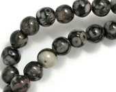 Fossil Agate Beads - 6mm Round - Full Strand