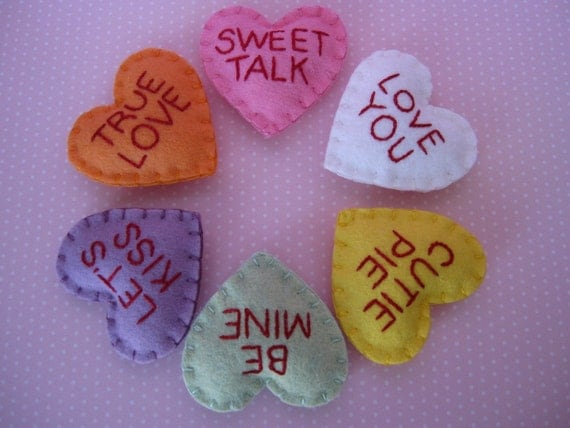Sewn Sweets Conversation Hearts
