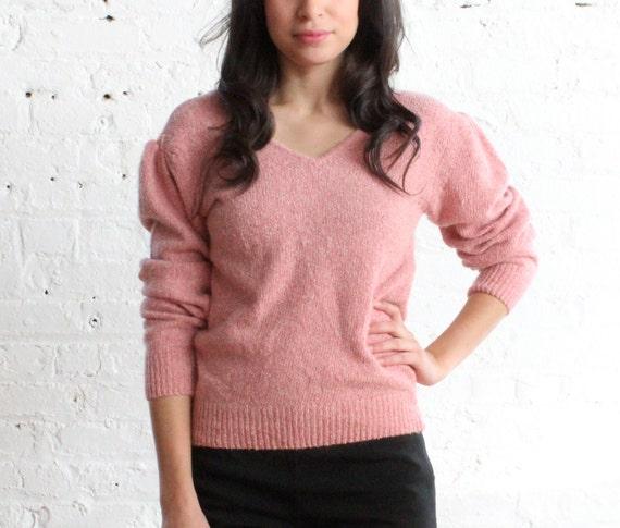 pink angora sweater (s)
