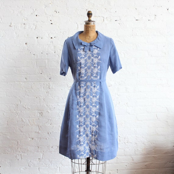 plus size dress embroidered belted (xxl)