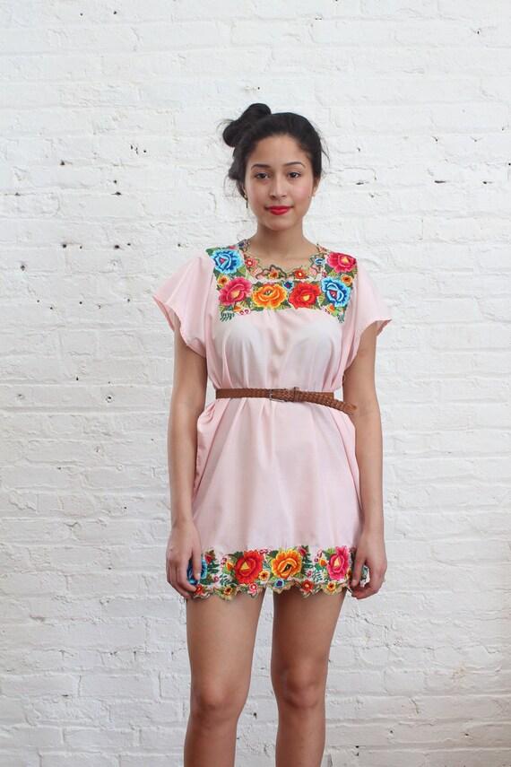 oaxacan embroidered mini dress (s)