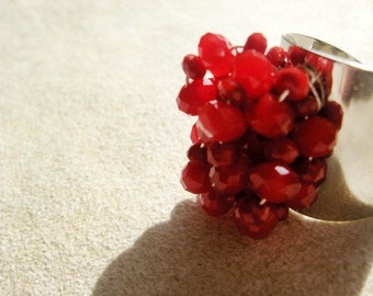 Red Bling Cocktail Ring