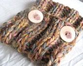 Woodland Moss Hand Knitted Soft Soft Chunky Winter Warm Woollen Cowl