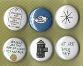Vonnegut Pinback Buttons 1 inch