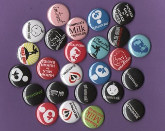 Breastfeeding buttons set of  six