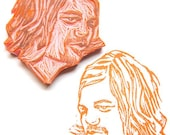 Hand Carved Custom Portrait Stamp