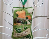 River Lagan in Belfast Irish Ornament - Sachet / Green - Orange Shamrocks / St. Patricks Day Ornament / Lavender Sachet / Irish Decor - ME2Designs