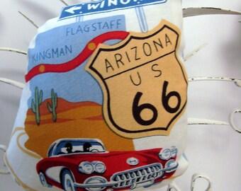 Route 66 Arizona Ornament - Sachet / Desert Cactus - Red Corvette - Blue Sky / Kingman - Flagstaff / Lavender Sachet / GIft Under 15