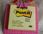 Pink\/Orange Post it Note Holder