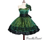 Custom Color and Size Gothic Lolita Tea Dress CollectionLolita Gothic Layered Lacey Alternative wedding Dress