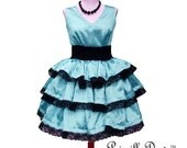 Custom in your Size 3 Layered Party Dress in Satin